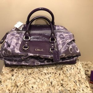 Authentic Purple Coach Bag